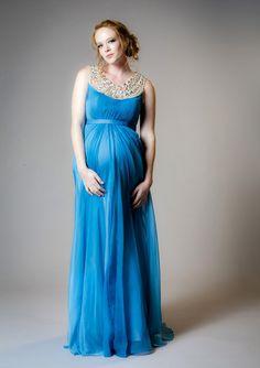 Wedding Blue Dress Maternity