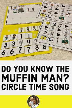 Do you know the Muffin Man? This is a fun children song that is great for circle time. There is a fun circle game that can be played also with the song with the children counting up one by one until the class ALL know the muffin man The product is easily stored in a file folder. The numbers and children are moveable. Fun Songs For Kids, Music For Kids, Preschool Speech Therapy, Preschool Lessons, Do You Know The Muffin Man, Did You Know, Circle Time Songs, Kindergarten Music, Sing Along Songs