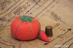 "The ""tomato"" pin cushion! I think mine is around here somewhere. My Childhood Memories, Great Memories, My Generation, Oldies But Goodies, I Remember When, Ol Days, My Memory, The Good Old Days, Pin Cushions"