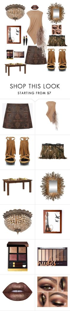 """""""Untitled #1950"""" by kotnourka ❤ liked on Polyvore featuring Valentino, Rick Owens Lilies, Burberry, Roberto Cavalli, DutchCrafters, Global Views, Vienna Full Spectrum, Tom Ford, Lime Crime and Christian Louboutin"""