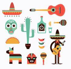 墨西哥主题素材19-矢量素材-潮流-矢量
