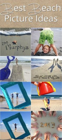 Best Beach Picture Ideas! Great ideas for family vacation pictures