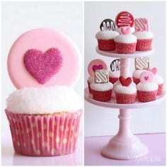 Valentines day cupcakes, for my sweet love. Valentine Day Cupcakes, Valentines Day Treats, Valentine Day Love, Kids Valentines, Funny Valentine, Fondant Cupcake Toppers, Cupcake Cakes, Cupcake Ideas, Cupcake Vintage