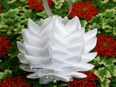 Snowflake ornament Christmas ornament silver ornament by Gydesi