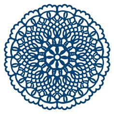 TATTERED LACE DIES - DOILY FLOURISH Detailed and delicate, Tattered Lace Dies are the most intricate dies available. This topper die gives you the perfect finishing touch to all of your projects. This die measures approx 8.6cm in diameter.