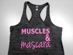 Muscle and Mascara Tank Top. Muscles and by StrongGirlClothing, $21.99
