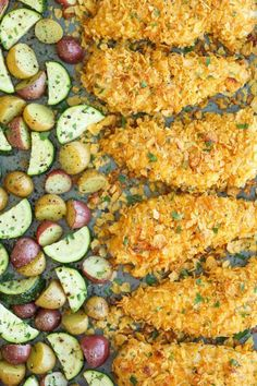 Bookmark this budget-friendly recipe to whip up Baked Ranch Chicken Tenders + Veggies for a weeknight dinner.