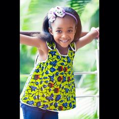 sleeveless ankara top for a kid