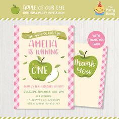 Apple Of Our Eye Invitation Printable
