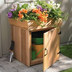 How to build a planter storage box in 10 steps.