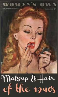 vintage 1940 colored makeup ads - Google Search