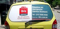 Ibis - Rio de Janeiro / CARTAXI     O mais novo hotel carioca, se encontra a 200 metros do aeroporto Santos Dumont e a 500 metros do centro é o hotel Ibis, que pertençe a rede Accor.    E na sua inauguração contará com 40 táxis com adesivos nos vidros traseiros em táxis de Aeroporto.