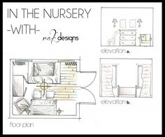 Nursery Drawings (floor Plans And Elevations) By Interior Designer Kristin  Rieke