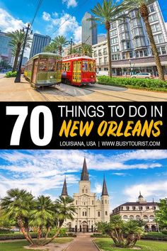 Wondering what to do in New Orleans, LA? This travel guide will show you the top attractions, best activities, places to visit & fun things to do in New Orleans, Louisiana. Start planning your itinerary & bucket list now! #neworleans #louisiana #neworleansla #usatravel #usatrip #usaroadtrip #travelusa #travelunitedstates #ustravel #ustraveldestinations #americatravel #vacationusa Usa Travel Guide, Travel Usa, Travel Tips, Canada Travel, Travel Ideas, Downtown New Orleans, New Orleans Louisiana, New Orleans Travel, Usa Cities