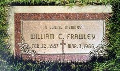 "William Clement Frawley (Actor) 1887-1966 best known for his role as ""Fred Mertz"" on the I Love Lucy show"