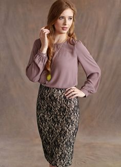 A lace-detailed skirt is a wonderfully classic piece that creates a timeless look. #ruche #shopruche