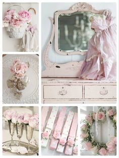 Shabby Chic Farmhouse, Shabby Cottage, Shabby Chic Homes, Shabby Chic Style, Cottage Chic, Shabby Chic Decor, Shabby Chic Accessories, Love Collage, Colour Schemes