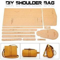 Acrílico patrón de plantilla para precioso bolso de cuero suave del patrón del arte XKB-20 DIY estilo Simple bolso de la plantilla