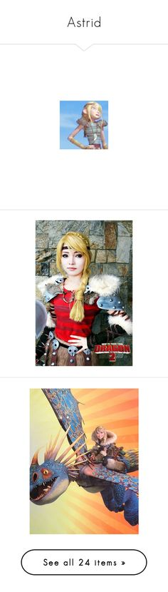"""""""Astrid"""" by bambolinadicarta-1 ❤ liked on Polyvore featuring astrid, howtotrainyourdragons, costumes, cosplay halloween costumes, cosplay costumes, role play costumes, how to train your dragon, disney, dreamworks and people"""