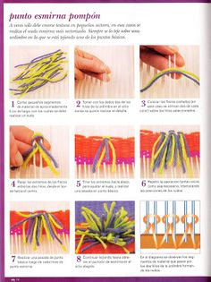 "The techniques that I share with you all today, I pass them to my Luciana Marrone, author of the book ""Natural Dyes within reach of the ma … rnrnSource by Loom Weaving, Hand Weaving, Ideas Paso A Paso, Weaving Designs, Art Textile, Textiles, Weaving Techniques, Tapestry Wall Hanging, Loom Knitting"