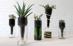 Nova postagem no blog Ideias para reciclar garrafas de vidro #tessituras