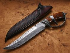 Beautiful Damascus steel knife.  I love Damascus steel - so nice.