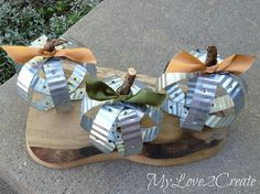 Industrial Pumpkins made from brick ties!