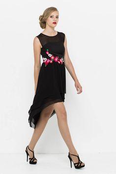 sukienka z asymetrycznym tyłem, idealna na studniówkę, sylwestra. Propozycja VISSAVI na nadchodzący sezon jesień/zima 2014/15