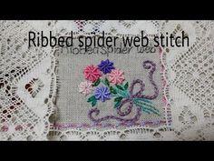 *홍진하의자수클래식*Bullionrose stitch (불리온로즈 스티치) 자수기법 독학으로배우기 - YouTube