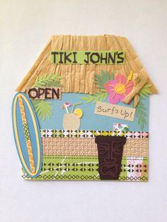 Tiki Birthday Card- Cricut Life's a Beach