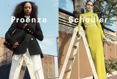 Proenza Schouler Fall 2016 Ad Campaign featuring Selena Forrest and Alexa photographed by Zoe Ghertner