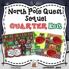 If you are looking for a fun review game to reinforce ta/ti-ti and quarter rest or just want (or need) a fun, quick, no-prep Christmas themed activity this resource will be immensely popular with your young students! It comes with two game versions (16 total rhythms) in PDF form for your students to listen to and identify as they help Santa find the bag of toys he lost.