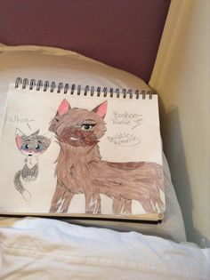 Here's a pic i drew of Brokenpromise, @BrokenpromiseOC's OC request! So i really wanted to draw Ashfur in the background, i tried to draw it Erin Johnson style, but obviously i failed! LOL So enjoy!