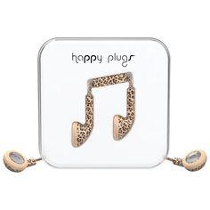 Happy Plugs In-Ear Headphones with Mic - Leopard Headphone With Mic, In Ear Headphones, Plugs, Cool Things To Buy, Happy, Christmas, Cool Stuff To Buy, Navidad, Over Ear Headphones