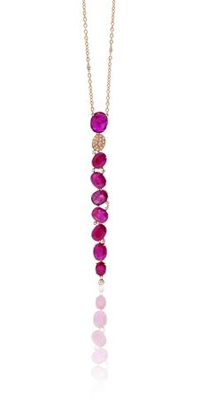 CASATO - ROMA - TAI MEE -  18 kt rose gold, sapphires, rubies and white diamonds