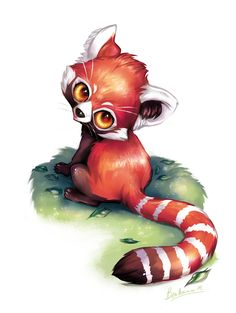 Red panda by ~Benedicte-Ammar on deviantART