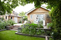 deck with garden border