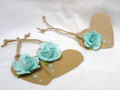 Heart gift tag Wedding gift tag Tiffany blue tag by kC2Designs, $4.75