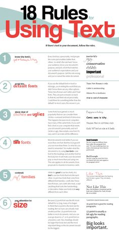 18 rules for using text | Creative Bloq