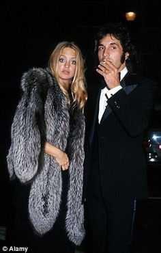 Goldie Hawn and Bill Hudson at the 1975 Oscars...