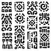 Ethnic African geometrically