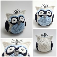 FREE crochet pattern - Bean Bag Owl - Homemade by Giggles.  Handmade, crochet adorable amigurumi owl critter.  Full assembly instructions and video tutorial in the works!