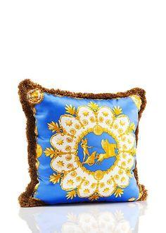 Apollo Cushion - Blue/Black