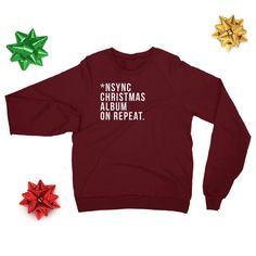 5a7a1b9efdf3 NSYNC Christmas Album Sweater// Justin Timberlake// Nsync// Home for  Christmas// Holiday Sweaters// Christmas//Boy Band// Unisex//