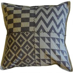 Campbell Toss Cushion - digging the aztec Urban Barn, Tossed, Aztec, Cushions, Throw Pillows, Quilts, Blanket, Decorating, Inspiration