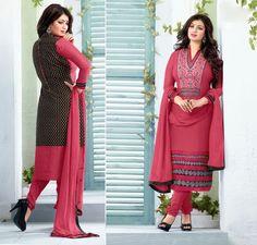 Ayesha Takia Pink Cambric Cotton Churidar Suit 59478