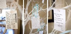Wishing tree with ribbon to hold it up with