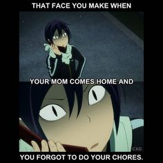 Image result for noragami yato awkward face