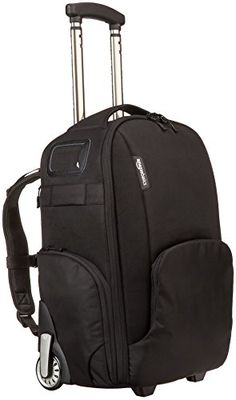 Large camera travel bag with wheels quickly converts from rolling case to Can hold a full DSLR body with lens attached; 11 additional configurable compartments Padded compartment for a tablet or laptop; Home Camera, Slr Camera, Video Camera, Convertible, Camera Backpack, Backpack Bags, Camera Bags, Rolling Backpack, Airplane Carry On