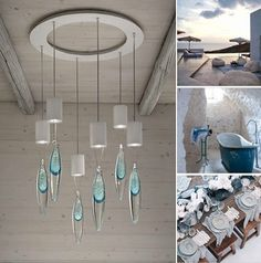 White and light blue are typical Santorini's colors. Anima lamp is also available in pink or total white.